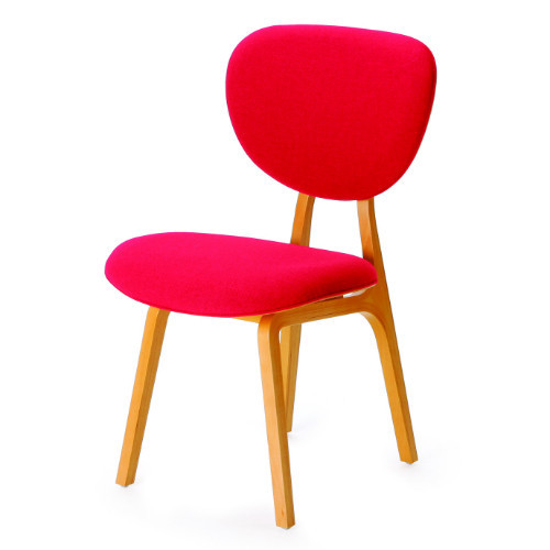 Fabric Persimmon Chair - Red