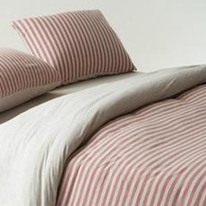 Cotton Pure™ Melon Beige Stripe Fitted Sheet Set - Super Single