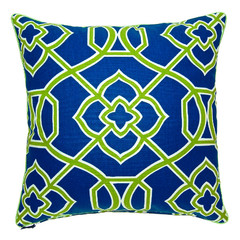 Malibar Square Cushion - Blue