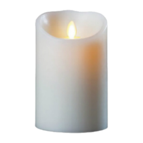 Wax Candle with LED Flame Large - Ivory