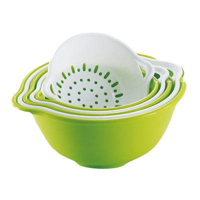 6 pcs Strainer & Bowl Set - Green