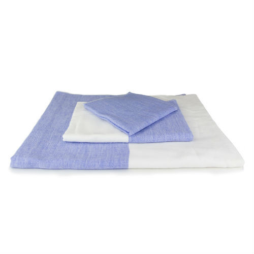 2 Tone Chambray Towel - Blue 1
