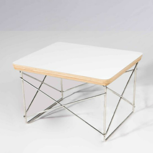 Wire Base Accent Table - White