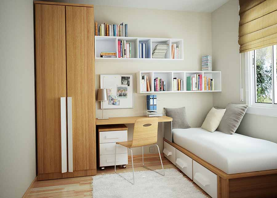 10 space saving solutions for small bedrooms blog hipvan for Small space solutions bedroom