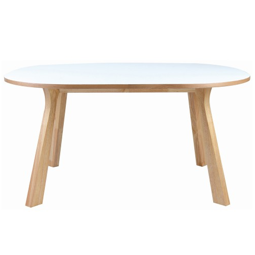 Oval Dining Table - White