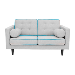 London 2-Seater Sofa - Light Grey