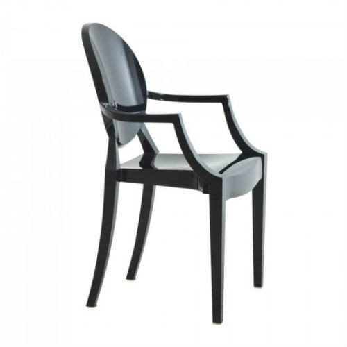 Louis Ghost Chair - Opaque Black