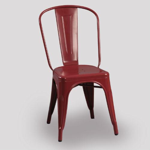 Tolix Chair - Cranberry