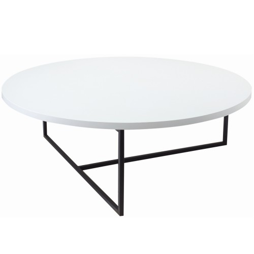Turner Round Coffee Table - White