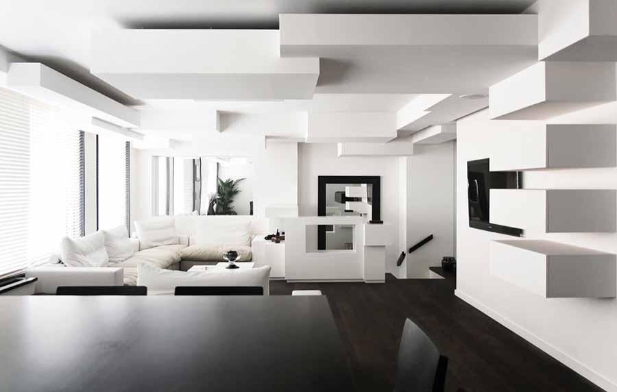 white living room design by 12 gorgeous black u0026 white living room designs blog hipvan - White Living Room Design