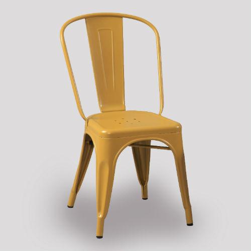Tolix Chair - Mustard Yellow