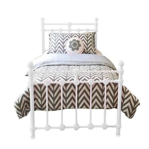 Bella Bianca Wrought Iron Bed - White
