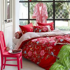 Morning Glory Duvet Cover - Red