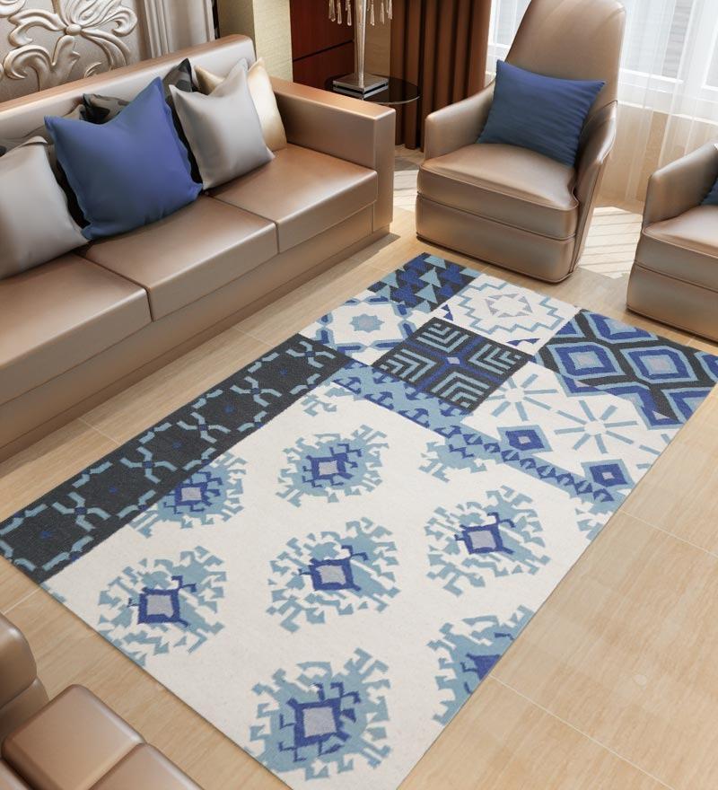 Flatweave Marrakesh Dhurrie - Blue