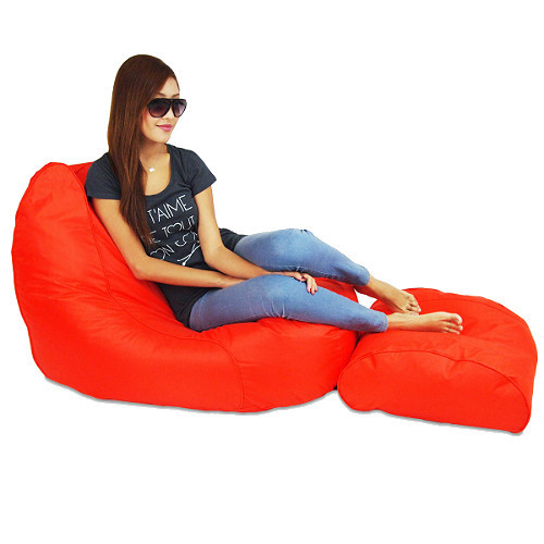 Oomph Lounger with Ottoman - Orange